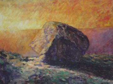 The Calf Rock at sunset     2015