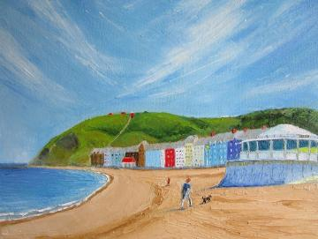 Aberystwyth Prom with Bandstand