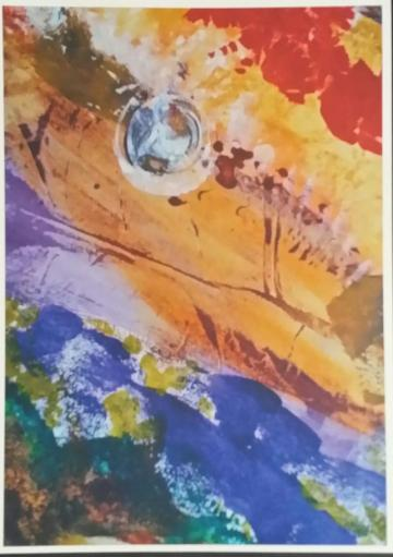 ORBS - UNFRAMED ABSTRACT A4 ARCHIVAL PRINT WITH SEPARATE POEM