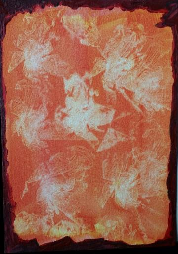 WINGS & FLOWERS AND THINGS -UNFRAMED ABSTRACT PAINTING