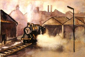 Steam Train in the Sidings