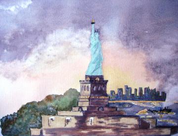 Sunset on Liberty