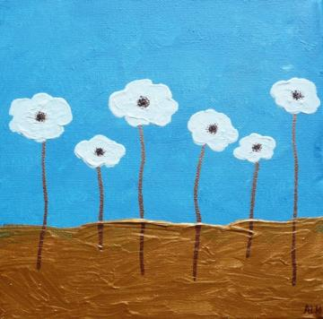 White Poppy Field